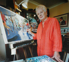 Colina in her Studio